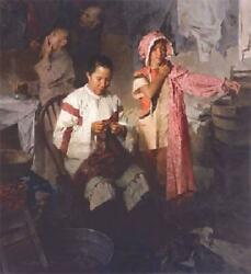 Mian Situ Calico Dress- Family Laundry- 1906 Canvas Giclee