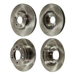 Disc Brake Rotor For 2012-2016 Kia Sportage Front And Rear Solid 4-wheel Set Fwd