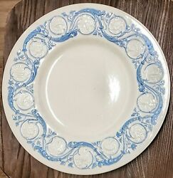 Wedgwood Argyle Patrician Kingston Blue Hand Painted Dinner Plate Circ1946 T272