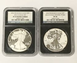 2012-s Silver Eagle Set Ngc Graded Pf70 Cameo And Reverse