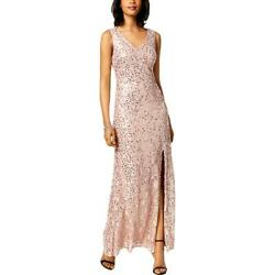 Nightway Womens Pink Lace Sequined Formal Evening Dress Gown 10 BHFO 1882 $9.99