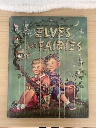 Vintage The Giant Golden Book Of Elves And Fairies 1951 Garth Williams Pixie