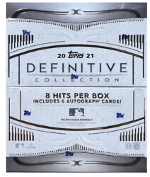 2021 Topps Definitive Baseball Hobby 3 Box Sealed Case Trout Griffey Acuna Soto
