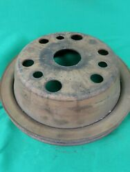 63-74 Chevy Crank Pulley Camaro Chevelle Single Groove Sbc Part 3751232 Bb