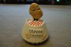 Rare 1960 Holt-howard Pixie Jeeves Olives If You Please Condiment Jar Nice