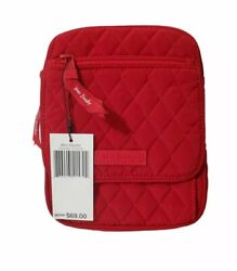 Vera Bradley Mini Hipster Crossbody Purse Wallet Bag for Coin Credit Cards Red $29.99