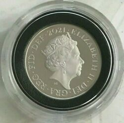 Rare Genuine 2021 925 Silver 2p Two Pence Coin - Queen Elizabeth Ll - Gb - Uk