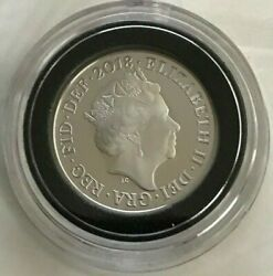 Rare Genuine 2018 925 Silver 2p Two Pence Coin - Queen Elizabeth Ll - Gb - Uk