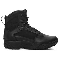 Under Armour 1276374 Womenand039s Ua Stellar Black Leather/nylon Tactical Boots Shoes