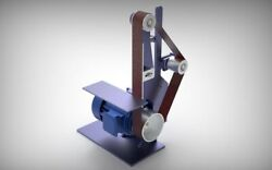 Small Belt Grinder Plans And Dxf Files Building Info And 3d Model. Metric Plans