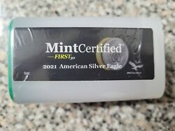 2021-american Silver Eagle Roll Mintcertified™ First30 20 1 Oz Ounce Coins 20 Oz