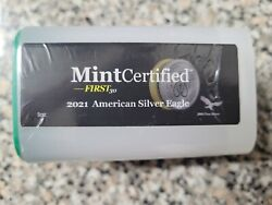 2021-american Silver Eagle Roll Mintcertifiedandtrade First30 20 1 Oz Ounce Coins 20 Oz