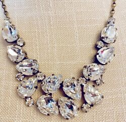 Rhinestone Necklace Set In Antique Gold. Stand Out In Zoom