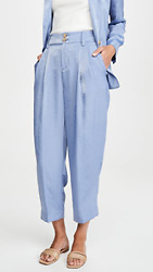 Vince - Tapered Rumpled Satin Trousers Pants In Sky Graphite Sz. 10 Nwt 345