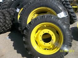 John Deere 3525 Two 14.9x28 Tractor Tires W/rims And Two 9.5x24 Tires W/rims