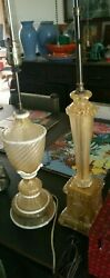 2 Vintage 1950s Labeled Barovier And Toso Murano Glass Lamps Same Owner Estate 2