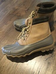 New Sperry Mens Avenue Leather Cap Toe Ankle Safety Boots Tan/brown Size 12
