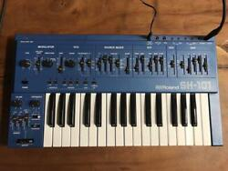 Vintage Roland Sh-101 Blue Rare Synthesizer Case Working Keyboard Good Condition
