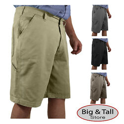 Big And Tall Sizes 42 Andndash 62 Rocxl Menandrsquos Cotton Twill Casual Work Shorts
