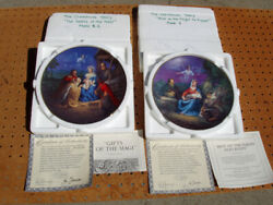 2 W.s. George Collector Plates The Christmas Story Collection Never Displayed