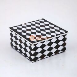 Marble Handmade Collectible Jewelry Lidded Box Mosaic Stone Art Gift Her Decor