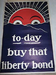 Vintage Wwi World War 1 Today Buy That Liberty Bond Poster