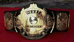 Wwf Winged Eagle Dual Plated Belt In Zinc Deep Etching And 24kt Gold Plated Free