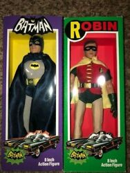 Batman And Robin 1966 Tv Series 8 Figures Classic Mego Styled Custom Boxes
