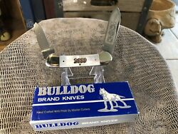 Bulldog Brand Knife Mother Of Pearl Canoe 2000 With Box