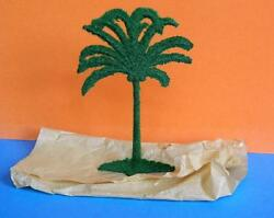 Vintage Barrett And Son Flock Coated Lead Coconut Palm Tree Mint Old Shop Stock