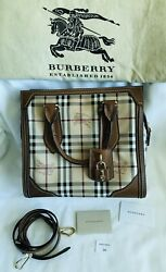 BURBERRY Classic Honeywood Tote Size: Small RARE Burberry bag Authentic $1485.00
