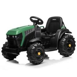 Kids Battery Powered Electric Tractor With Trailer Toddler Ride On Ground Loader