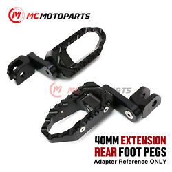 1.5 Inch Adjustable Rear Wide Foot Pegs For Buell S1 M2 S3 X1 Lightning