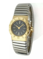 Vintage Bvlgari Tubogas 2t Stainless Steel Yellow Gold Round 19mm Watch