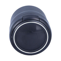 Car Ashtray Stainless Steel Container Smokeless Blue Led With Built‑in Battery