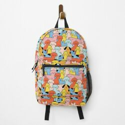 Puppy Rally - The Peach Fuzz Backpack- All Over Graphic Unisex Backpack