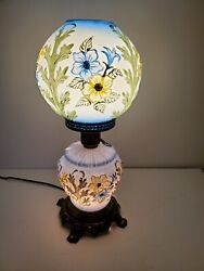 Antique Pheonix/consolidated Puffy Gone With The Wind Lamp