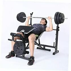 Adjustable Weight Bench Set For Full Body Workout Multi-functional Olympic
