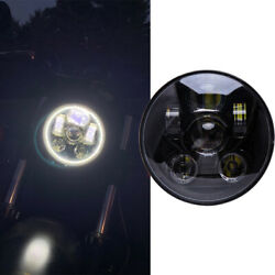 5-3/4 5.75 Led Headlight High Low Beam For Indian Scout Bobbber Motorcycle