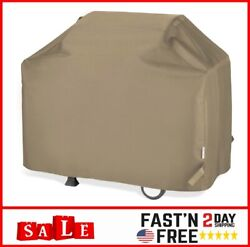 Bbq Grill Cover 65 Inch, Heavy Duty Waterproof Fits Weber, Charbroil 65x24x44