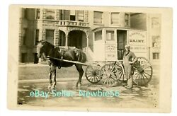 Chicago Il-garfield Dairy Horse Drawn Delivery Wagon- Rppc Postcard South Side