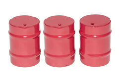 Little Buster Toys All Metal Construction Heavy Duty 3 Piece Rodeo Barrels Red