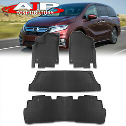 All Season Protect Floor Mats Liners Front+rear For 2018-2021 Honda Odyssey Rl6