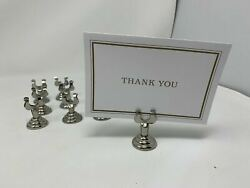 19 X Stainless Wedding Party Place Card Holders U Shape Table Name Number Holder