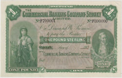 Commercial Banking Company Of Sydney 190 1 Pound Unissued Specimen Note Mvr 5b