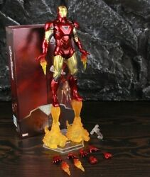 7 Inches Iron Man Mark Vi Movie Action Figure Avengers Comic Collectors Toy