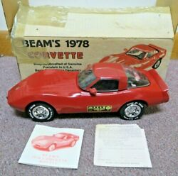 1978 Jim Beam Red Corvette Decanter Empty Pre Owned W/ Free Shipping
