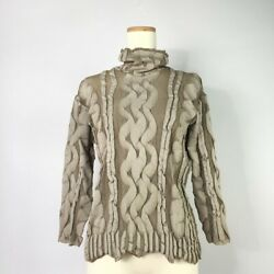 Issey Miyake Pleats Please A-poc Pleats Cable Woven High Neck Cut-and-sew 5h699