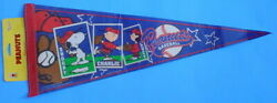 Peanuts Baseball Card Design Pennant Schultz Wincraft Snoopy Charlie Brown Lucy
