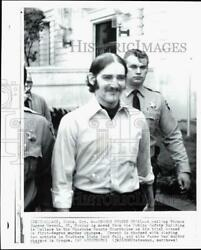 1975 Press Photo Police Escort Murder Suspect Thomas Creech To Courthouse In Id